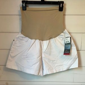 Oh Baby by Motherhood White Maternity Shorts